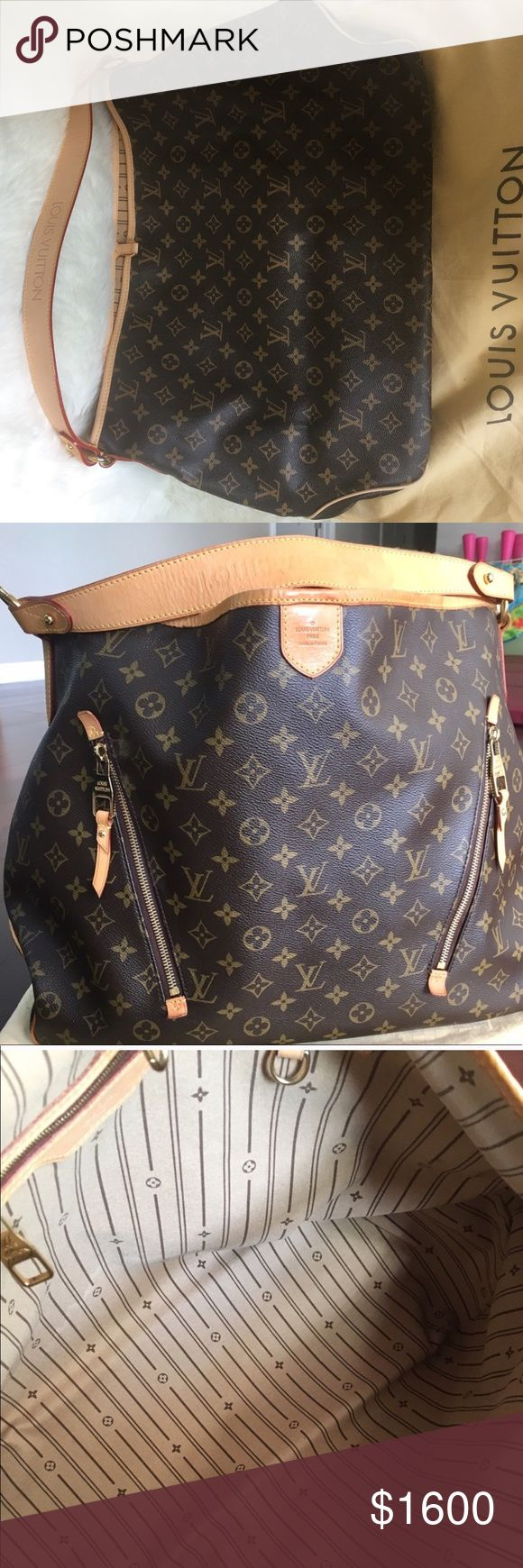 Louis Vuitton Bag Louis Vuitton Monogram Print Bag. Big bag with lots of room from LV features 2 exterior pocket and 1 interior. Louis Vuitton Bags Hobos