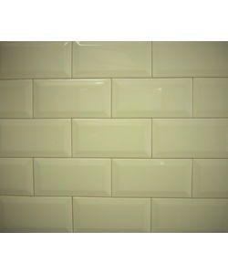 39008 Metro Flise Hvid Blank 7,5x15cm