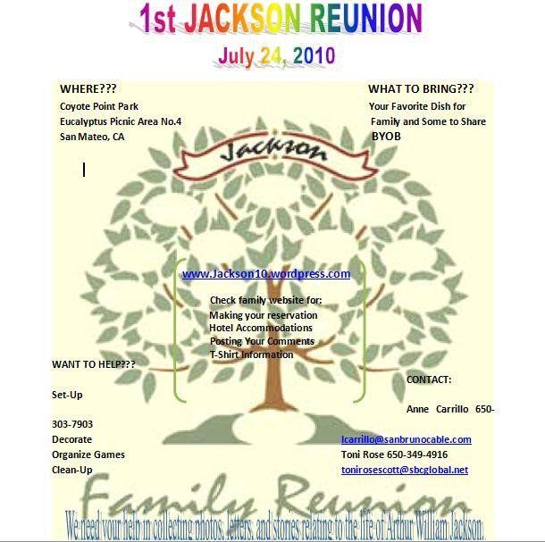 Family Reunion Flyer Templates The Jackson Family S 2010 Reunion Webpage Flyer Template Event Flyer Templates Family Reunion Invitations Templates