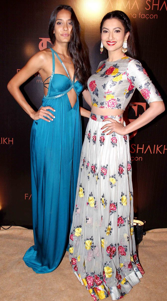 Lisa Haydon and Gauahar (Gauhar) Khan at a store launch in Mumbai. #Bollywood #Fashion #Style #Beauty
