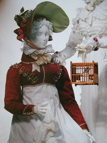 """""""Military influence in the Spencer jacket, with braided piping, 1815. Image: Kyoto Costume Institute."""""""