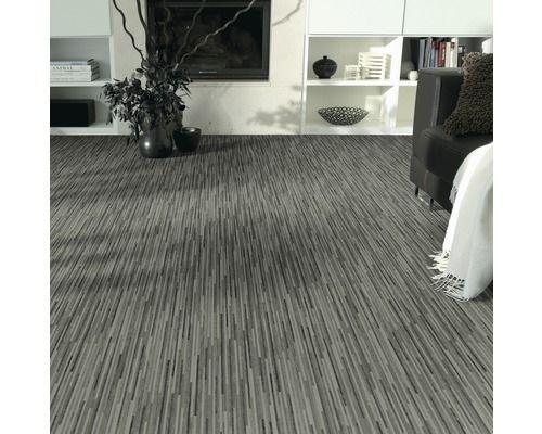 pvc elara feinstabparkett anthrazit metallic 300 cm breit meterware vorraum pinterest. Black Bedroom Furniture Sets. Home Design Ideas