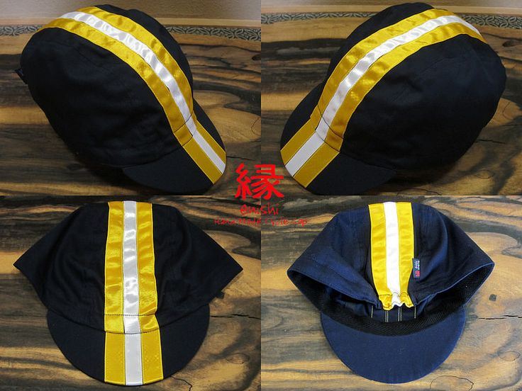 ENISHI Hand Made Cycle Cap classic line ネイビーコットン Yellow & White & Yellow