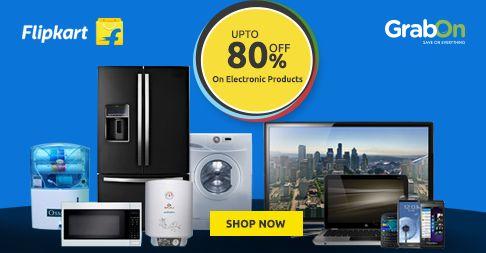 Flipkart Electronics Sale Is Back! #Flipkart Offers Upto 80% Off On Electronics http://www.grabon.in/flipkart-coupons/ #OnlyOnFlipkart
