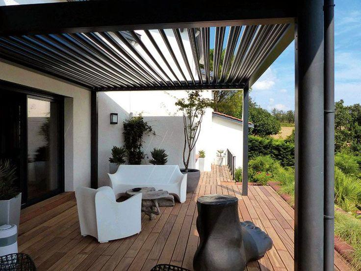 pergola bioclimatique pour la terrasse jardin pergola carport backyard pergola wood pergola