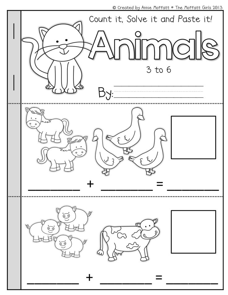 Math Booklets! (Count it, Solve it, Paste it!) Addition and subtraction Booklets that helps students solve simple math problems!