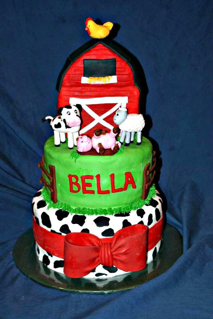 Farm Barnyard Birthday Cake