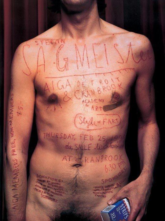 Affiche pour la conférence annuelle de l'AIGA. Detroit, 1999 © Stefan Sagmeister