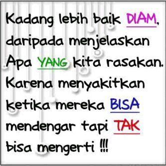 diam lebih baik :)