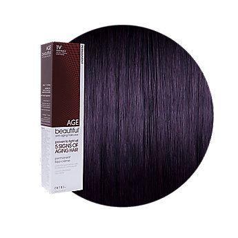 AGEbeautiful Anti-Aging Permanent Liqui-Creme Haircolor 1V Plum Black
