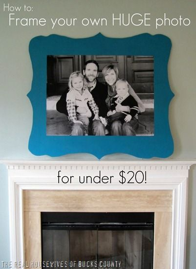 How to frame your own HUGE photo for under 20.00 Organic Bloom Style!: Huge Families, Huge Photo, Engine Prints, Idea, Diy Frames, Frames Photo, Families Photo, Large Photo, Shape Frames