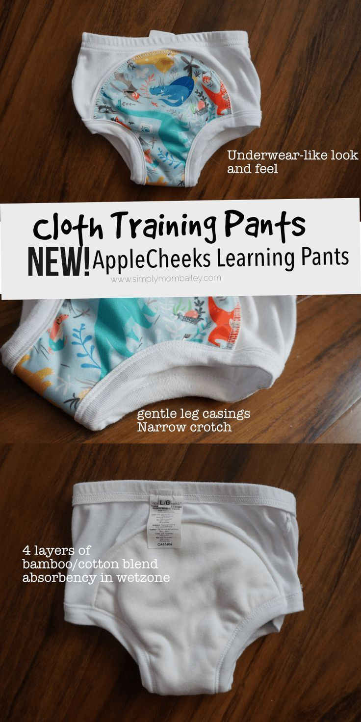 Check out these NEW and IMPROVED AppleCheeks Learning Pants to help your toddler transition from diapers to the toilet.   Best Cloth Training Pants - Learning Pants for Toddlers - #madeinCanada #pottytraining - AppleCheeks Learning Pants - Cloth Diapers - #makeclothmainstream - How to potty train a toddler