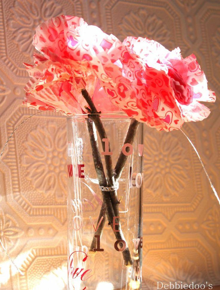 Dollar tree valentine cupcake flowers