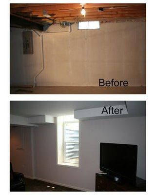 Before and After photo of a transformed basement with an egress window by http://www.MichiganBasements.com