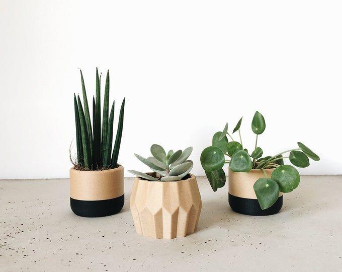 Desk Garden Window Origami Planter Decorative Plastic Vase