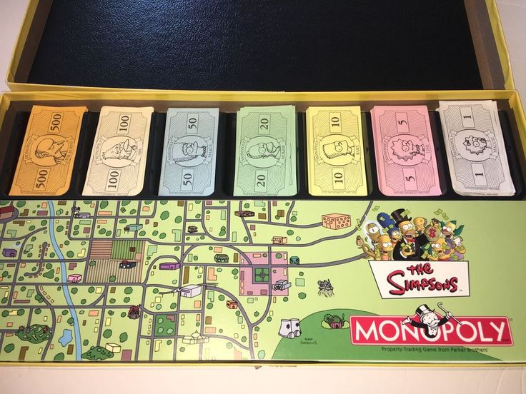 2001 Parker Brothers The Simpsons Monopoly Board Game Complete   | eBay