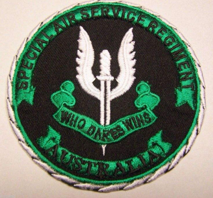 "Australian Special Forces Special Air Service ""Who Dares Wins"" Patch"