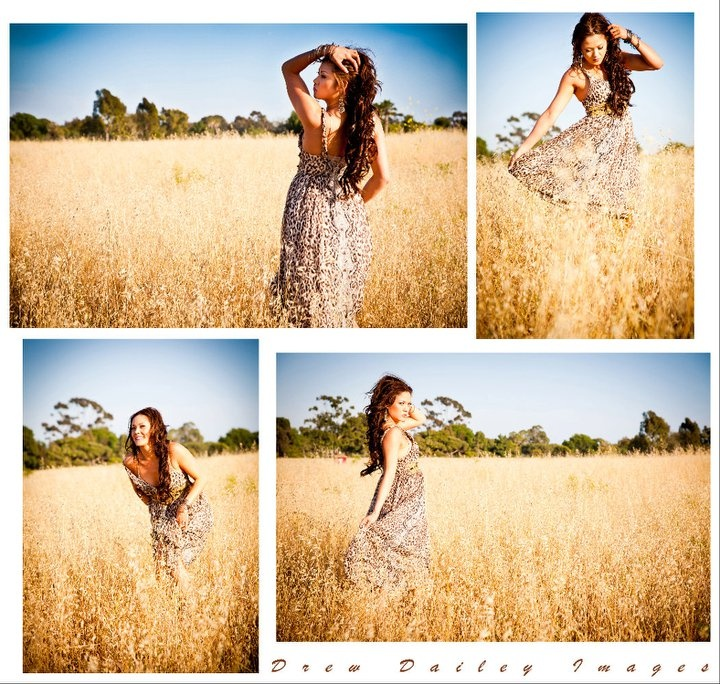 Senior picture inspiration for girls in nature - beautiful field and fun poses