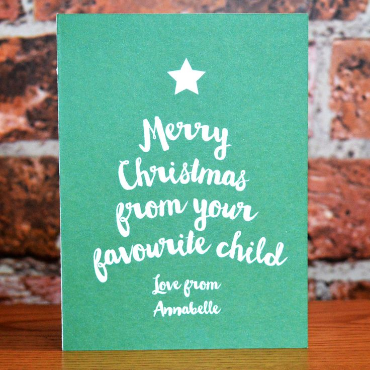 Personalised Christmas Card From Favourite Child