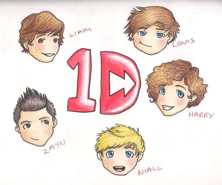One Direction Chibis by TheMuzbo.deviantart.com on @deviantART