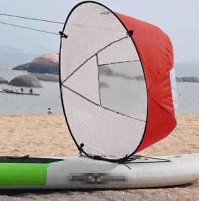 "New Style Durable 42"" Kayak boat Wind Sail Sup Paddle Board Sail with clear window"