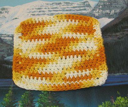 0250 Hand crochet dish cloth 6 by 6 by LandLCandlesandCraft on Etsy