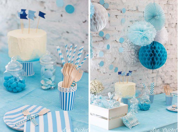 decoracion primera comunion en azul