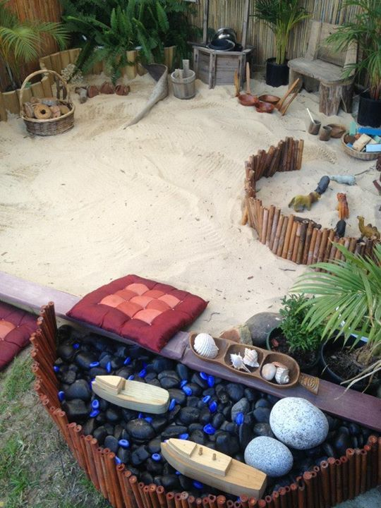 """Stunning outdoor sand area at Puzzles Family Day Care ("""",)"""