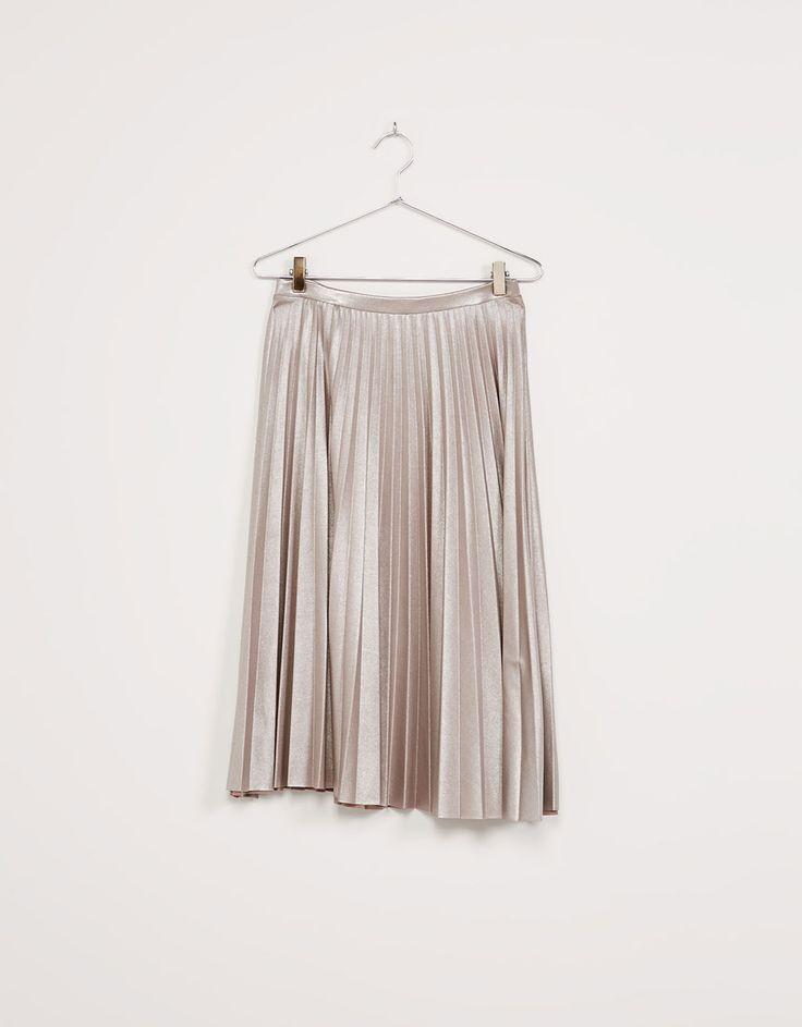 'Shine like a Star' pleated skirt - Skirts - Bershka Albania