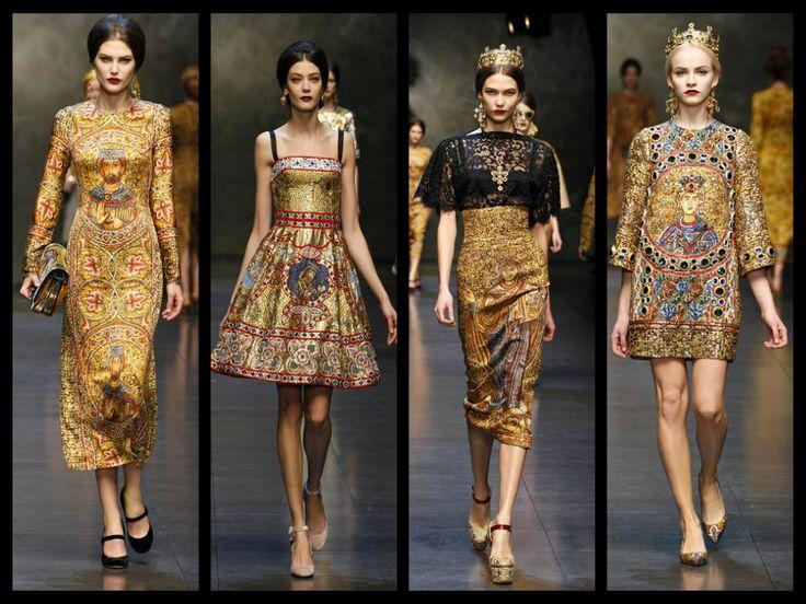 Women 39 S Fashions Fall 2014 Opulence Baroque Byzantine Influence Milan Fashion Week F