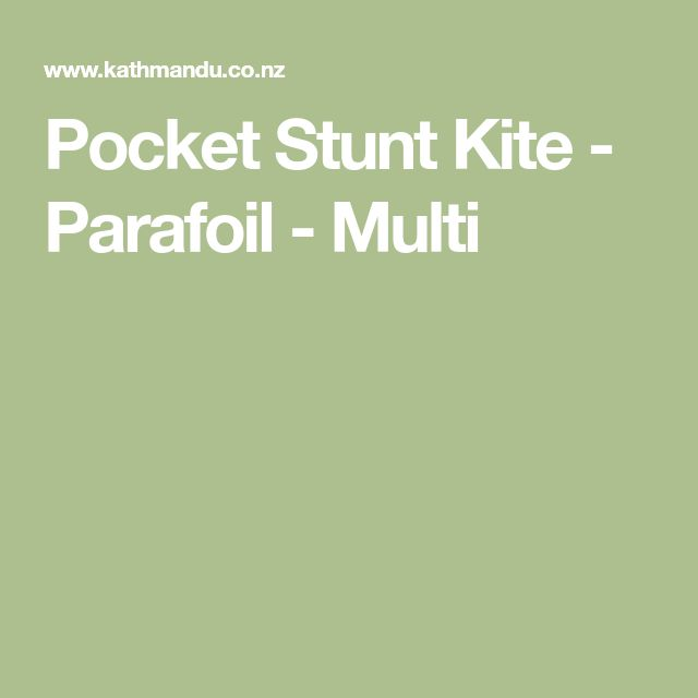 Pocket Stunt Kite - Parafoil - Multi