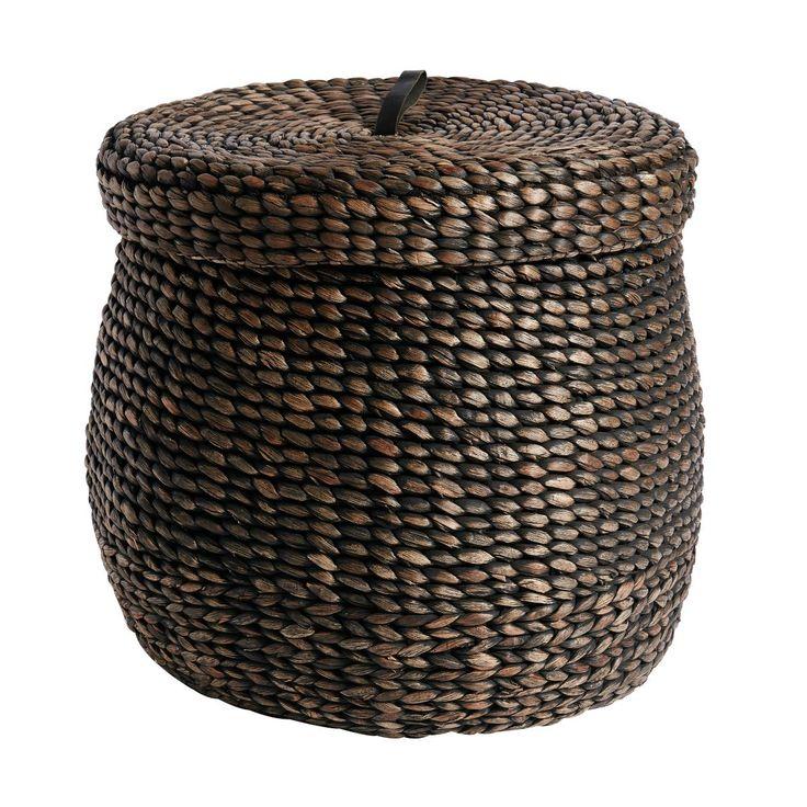 Lid for Basket Round High Black