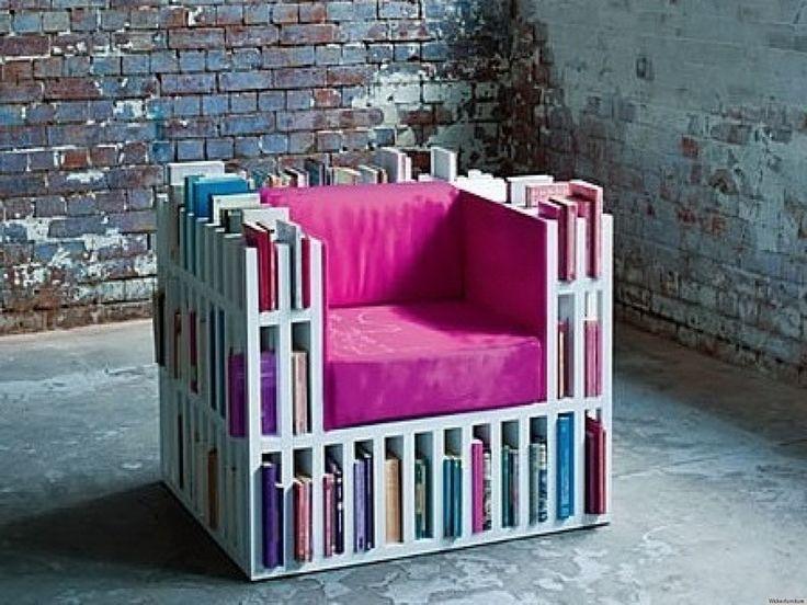bibliothèques originales : fauteuil pour lecteur