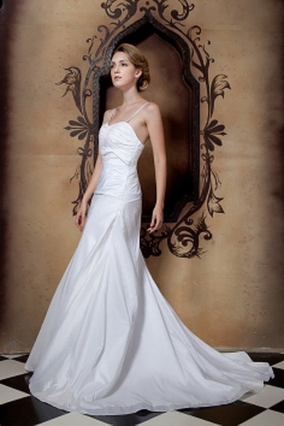 Taffeta A-Line Sweetheart Bridal Gown sfp0075 - http://www.shopforparty.com/taffeta-a-line-sweetheart-bridal-gown-sfp0075.html - COLOR: White; SILHOUETTE: A-Line; NECKLINE: Sweetheart; EMBELLISHMENTS: Ruched; FABRIC: Taffeta - 177USD