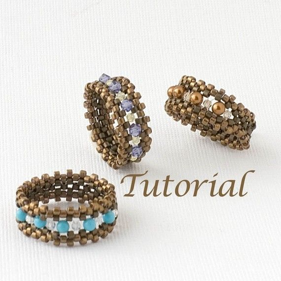 Beaded Ring Tutorial I'm with the Band Digital by JewelryTales