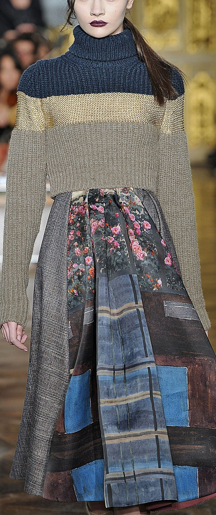 Antonio Marras - Milan Fashion Week FW13/14 love the tweedy material with the cute flowery inserts I think some of the amateurs do a better job with upcycling than the designers