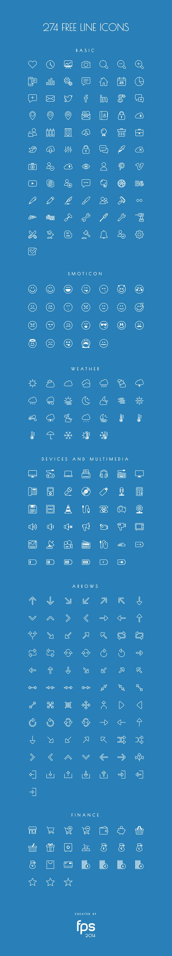 Completely free vector based line icons for you. In the pack you can find icons in PDF, SVG, EPS, PNG formats and finally as an icon font.