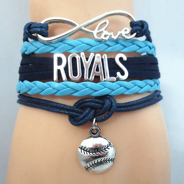 TODAY'S SPECIAL OFFER BUY 1 OR MORE, GET 1 FREE - $12.00! Limited time offer - Infinity Love Kansas City Royals baseball Team Bracelet on Sale. Buy one or more bracelets and we will give you one extra