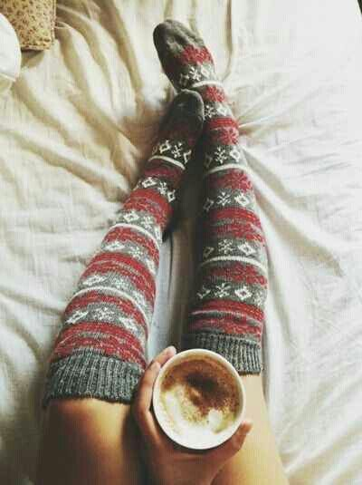 Cozy knit socks