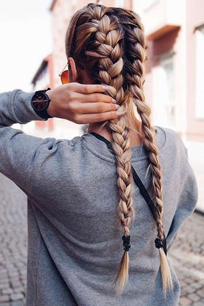 Two Braids Are A Stylish Comeback Of Your Childhood Lovehairstyles Hair Styles Easy Hair Updos Long Hair Styles
