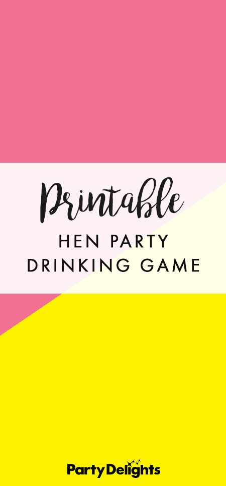 Free Printable Hen Party Drinking Ideas Pinterest And