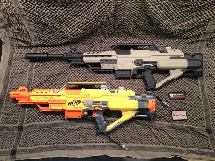 The Nerf Stampede PolarStar Fusion Engine airsoft gun.