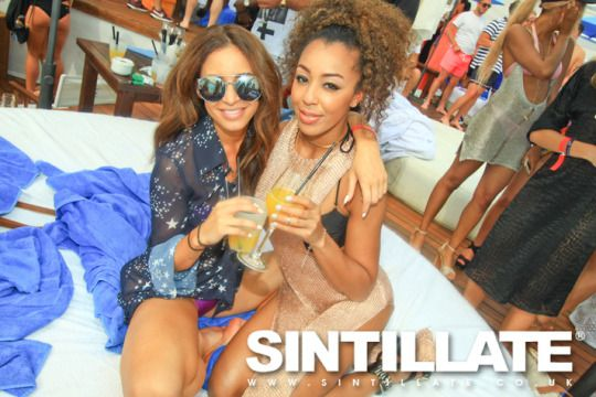Danielle Peazer with her friend Zoe at Sintillate Champagne Spray Party in Marbella #dancer #model #blogger #youtuber #london #idle #lane #idlelane #loves #blog #style #fashion #beauty #makeup #fitness #workout #iconuk #icon #uk #channel #twitter #instagram #dcp1006 #post #one #direction #ex #girldriend #liam #payne #beach #pool #swimsuit #swimwear #summer #leighanne #leigh #anne #pinnock #jade #thirlwall #little #mix #singers