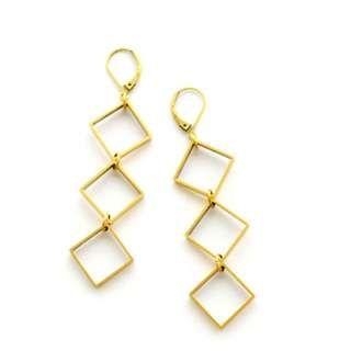 Sleek, Edgy, Contemporary Swarovski Bicone Earrings on Carousell