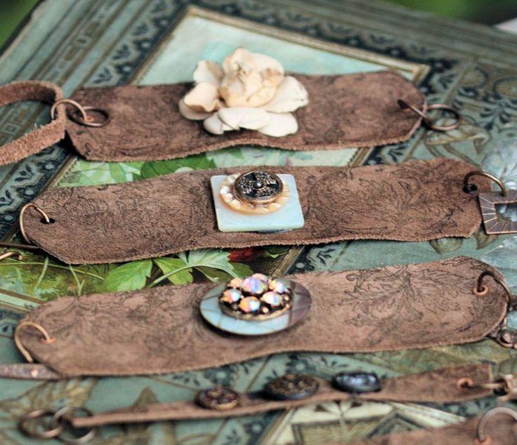❥ Bohemian Cuff Wrap Tutorial. Use this idea under a steampunk centerpiece