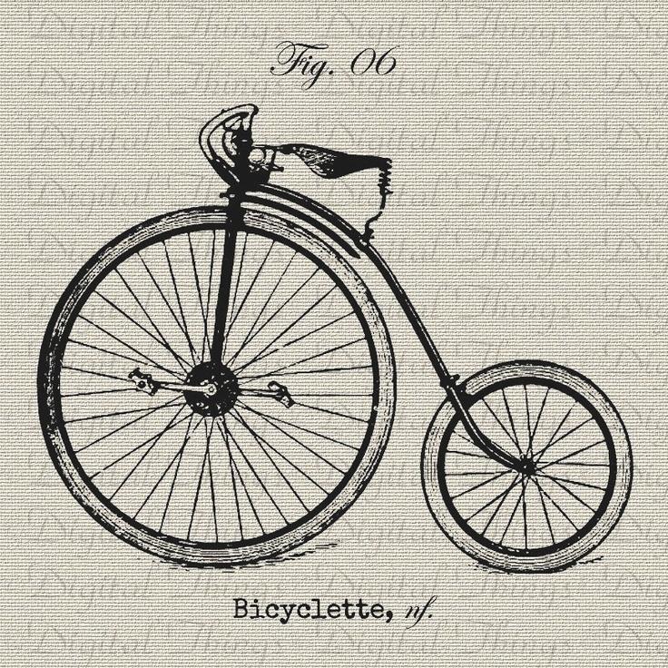 Vintage bike drawing