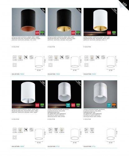 Decken LED/ Modern/ Schwarz/ Golden/ Leuchte Aufbauspot Aufbaustrahler Deckenstrahler