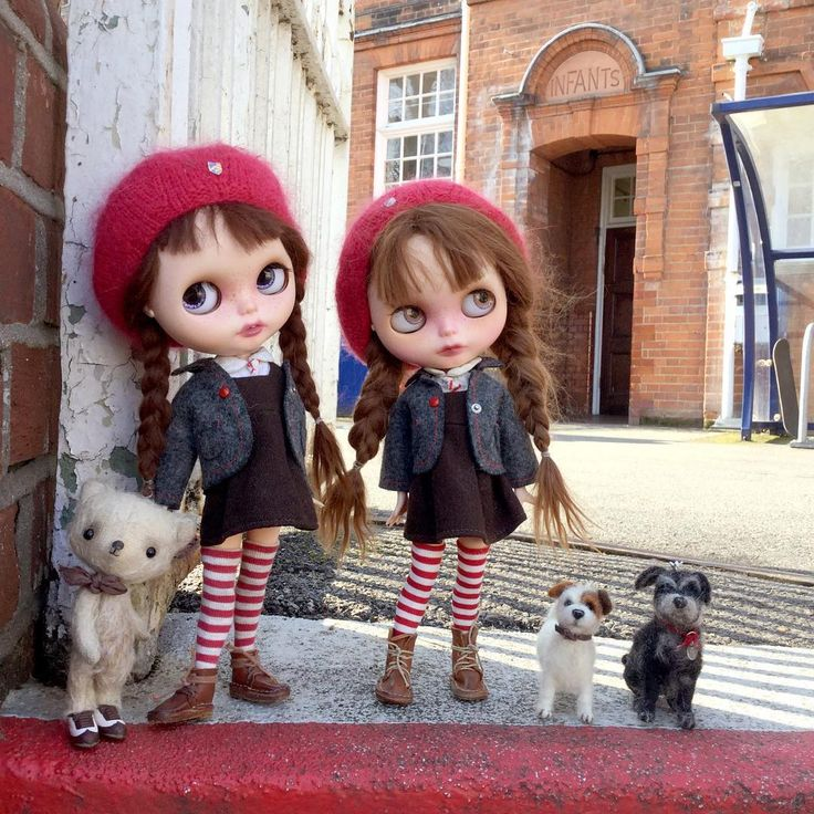 """You two wait here till after school! No doggies allowed , that's the rule!""…"