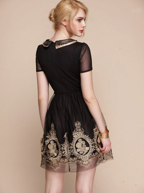 Baroque Royal Gold Embroidery Dress Folk Russian By Lapupahuman Dresses Skirts Pinterest And Fashion
