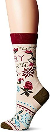 Amazon.com: Stance Women's Slay Ride Holiday Arch Support Tomboy Crew Sock: Clothing
